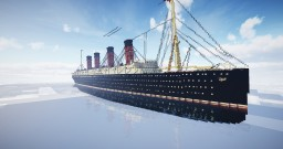 """RMS Lusitania 1907 Exterior model """"Greyhound of the sea"""" Minecraft Map & Project"""