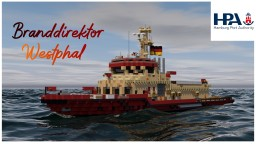 Fire Boat Branddirektor Westphal [full intorier] Minecraft Map & Project