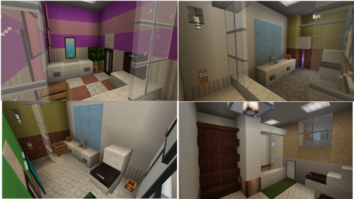 Those bedrooms have on-suite bathrooms and the hallway bathroom on the 2F.