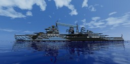 1:1 Scale HMS Belfast 1944 - Exterior Only Minecraft Map & Project