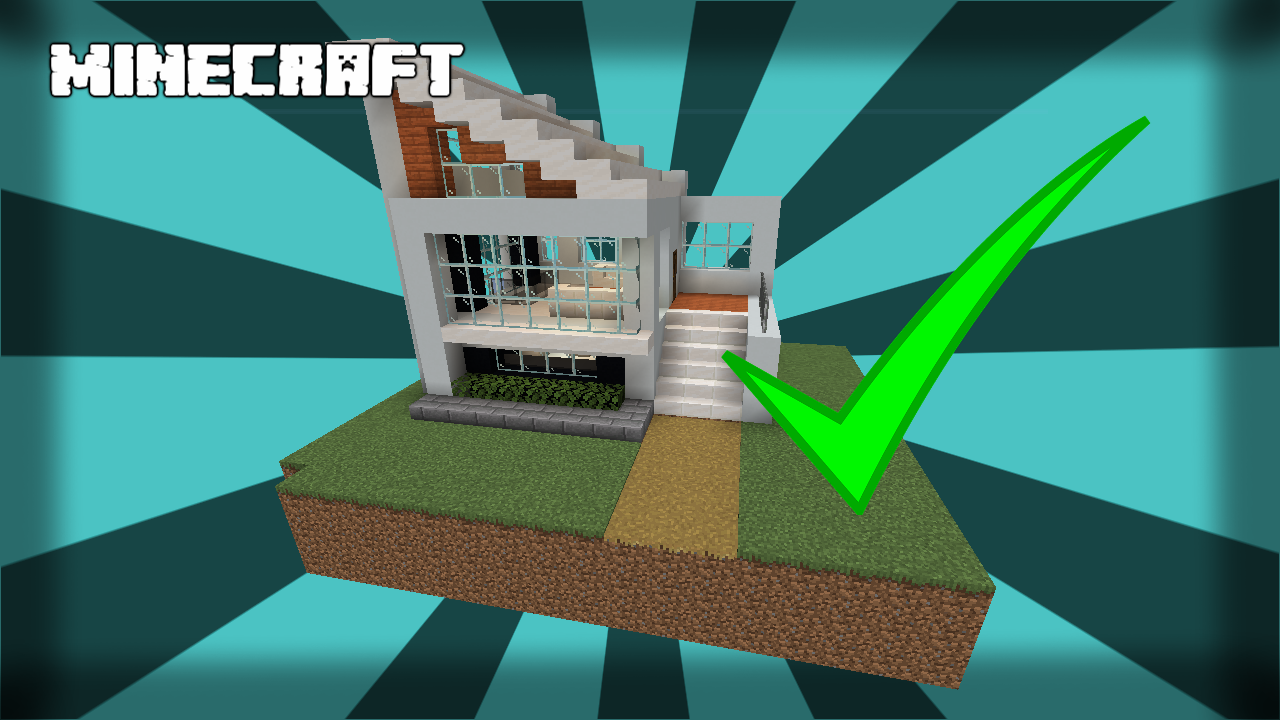 Small And Easy Modern House 114 Minecraft Project
