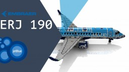 ERJ 190 JetBlue 5:1 Aircraft Minecraft Map & Project