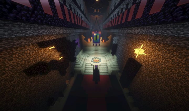 The End Portal inside the desecrated temple dungeon