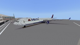 Delta Airlines Airbus A330-300 Minecraft Map & Project