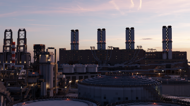 Evening view from other side. The refinery in the foreground was made by NJDaeger