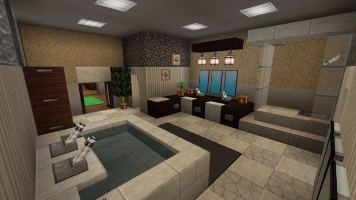 The Master Bathroom with a fresh sink.
