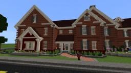 Large Brick Suburban House Minecraft Map & Project