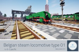 NMBS TYPE 01 - Belgian steam locomotive Minecraft Map & Project