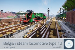 NMBS Type 10 - Belgian steam locomotive Minecraft Map & Project