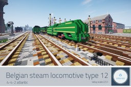 NMBS Type 12 - Belgian steam locomotive Minecraft Map & Project