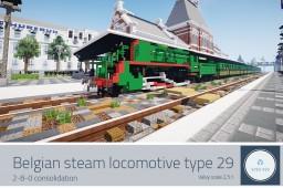 NMBS Type 29 - Belgian steam locomotive Minecraft Map & Project