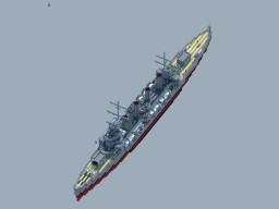 RNS Alpha Class Light Cruiser Minecraft Map & Project