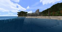 Modern Island Mansion [PE - MAP] Minecraft Map & Project