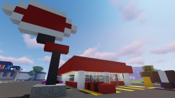 80's Dairy Queen Restaurant Minecraft Map & Project