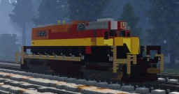 1.5:1 Kansas City Southern GP38 Diesel Locomotive Minecraft Map & Project