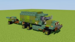 M35 Cargo Truck with Howitzer Minecraft Map & Project