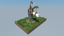 Tower with blowing horn (remake of old build) Minecraft Map & Project