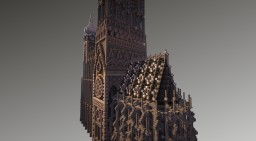 Download Huge Gothic Cathedral SURVIVAL BUILD Minecraft Map & Project
