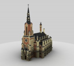 Saint Trinity Cathedral (Minsk, Belarus) - Minecraft Architecture Project Minecraft Map & Project