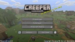 """Creeper aw man"" instead of ""Minecraft java edition"" Minecraft Texture Pack"