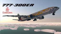 Emirates 777-300ER 1.5:1 Aircraft Minecraft Map & Project