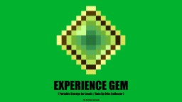 Experience Gem - XP Portable Storage / Auto Orb Collector (Datapack 1.14+) Minecraft Data Pack