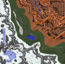 2k*2k Hot 'N' Cold Contrast Terrain Minecraft Map & Project