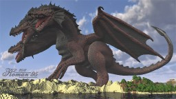 Huge three-headed Dragon Minecraft Map & Project