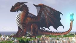 Huge fantasy Dragon Minecraft Map & Project