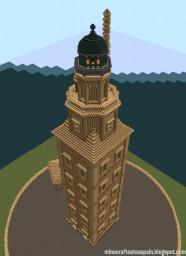 Minecraft replica of the Tower of Hercules, La Coruña, Galicia, Spain. Minecraft Map & Project