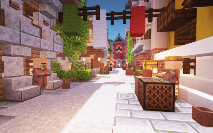 Villagers have established themselves within the bustling city.