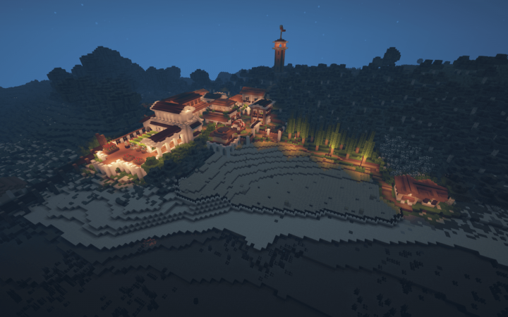 Introducing Bliserona. A town at the junction between two important paths.