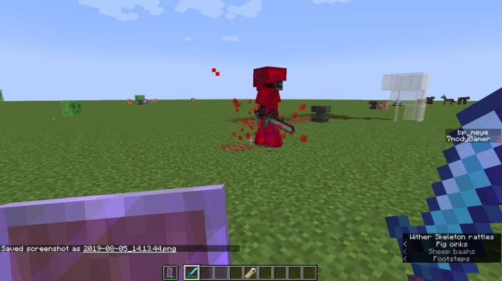 red particles refare to increasing the power but decrease his armor   blood absorption ability