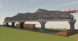 1.5:1 Huey P. Long Bridge New Orleans L.A. Over the Mississippi Minecraft Map & Project