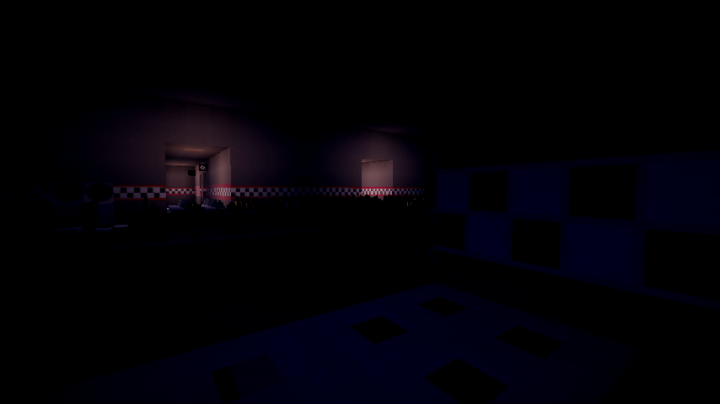 The entrance to the pizzeria. Spooky!