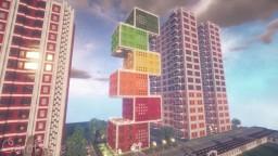 Cube Modern Skyscraper DT city #19 | Minecraft Timelapse Minecraft Map & Project