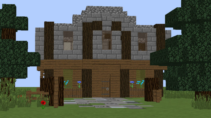 Spruce And Stone House Minecraft Map