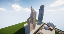 Base Corp. Tower   City of Los Citrus   State of Limencornia   United Citrus States Minecraft Map & Project