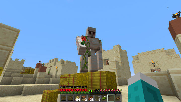 Making peace with the villagers can help the lonely UHC player succeed.