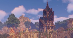 Cliff Side Fantasy 1.14 House Minecraft Map & Project