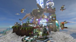 My 4D space city Minecraft Map & Project