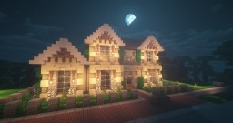 American Traditional House | Survival Towny Build Minecraft Map & Project