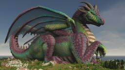 Aquamarine Dragoness Minecraft Map & Project