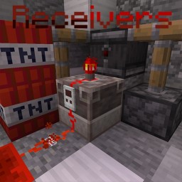 A New Redstone Component - Redstone Receivers Datapack Minecraft Data Pack