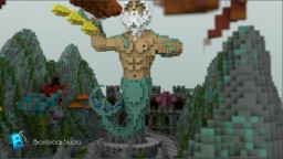"""Poseidon"" god of the sea, storms, earthquakes, and horses. Minecraft Map & Project"