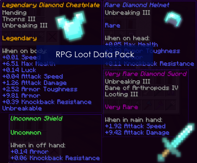 RPG Loot Data Pack Minecraft Data Pack