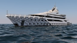 Fictional Delicacy Super Yacht (136m) Minecraft Map & Project