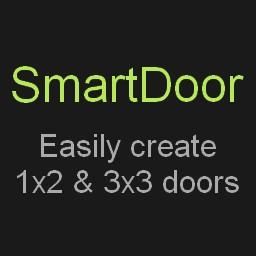 SmartDoor - Easily create 1x2 and 3x3 doors with blocks Minecraft Data Pack