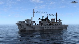IJN No.1-class auxiliary minesweeper 1:1 Scale Minecraft Map & Project