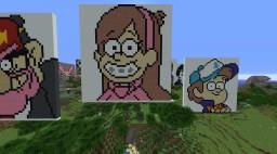 I Love Gravity Falls! Minecraft Map & Project